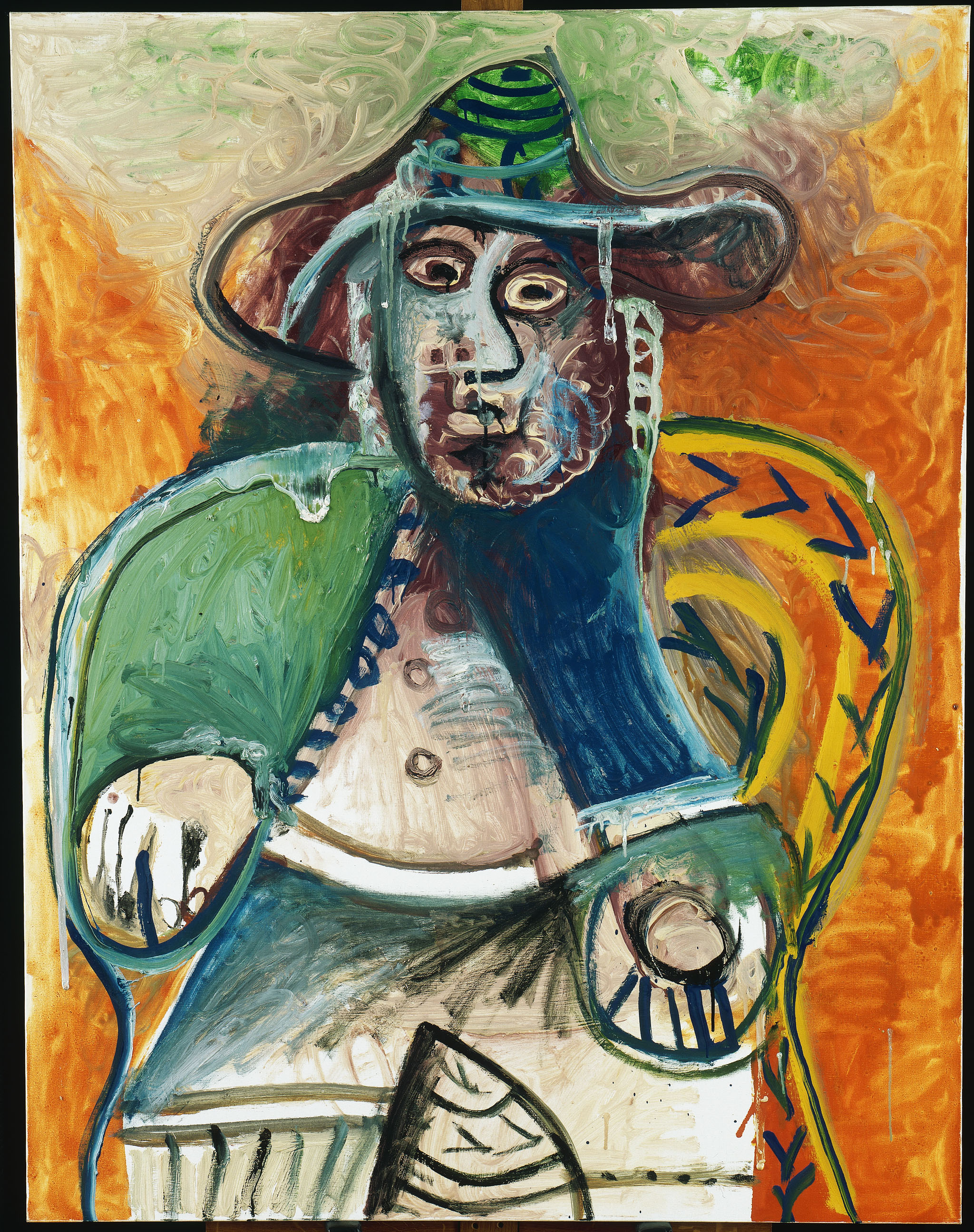 Picasso vieil homme assis