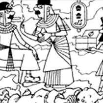 Tintin rêve de l'Egypte, Dupont et Dupond en pharaons