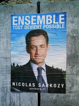 Affiche de campagne de Nicolas Sarkosy