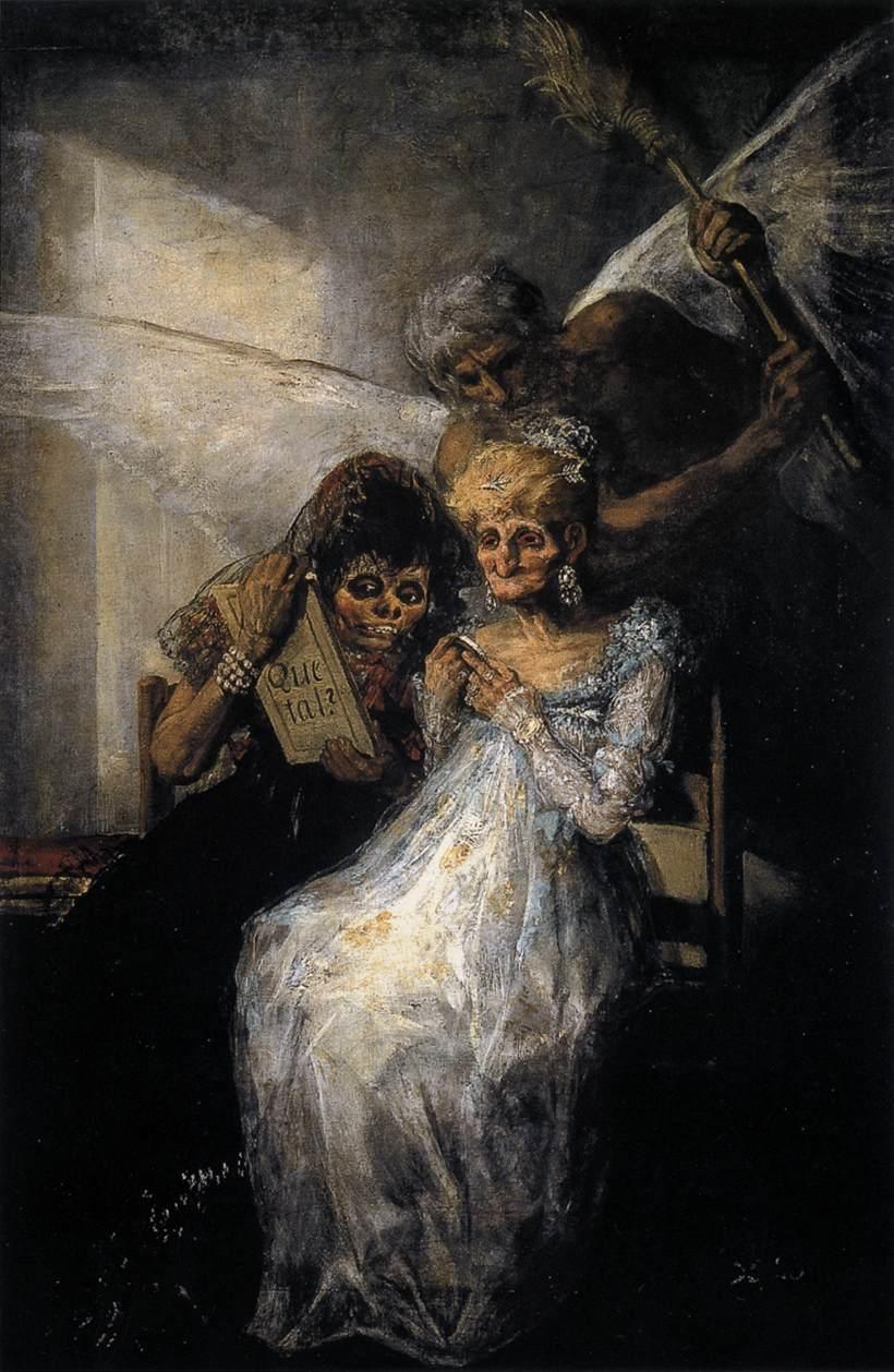 huile sur toile de Francisco de Goya, le temps et les vieilles